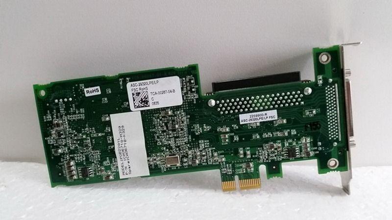 1pcs 29320LPE ASC-29320LPE PCIe U320 SCSI Adaptec hard disk card FRU 43W4325