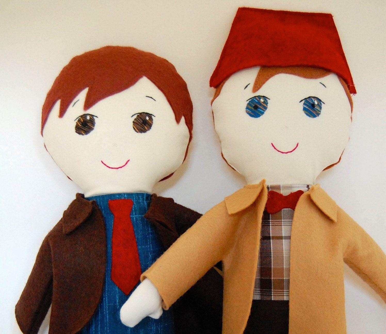 Doctor Who My Gigi Doll Doll Custom Handmade softie soft doll. $70.00, via Etsy.