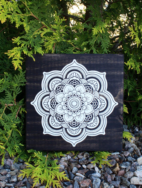 wood wall art mandala painting mandala wall art contemporary