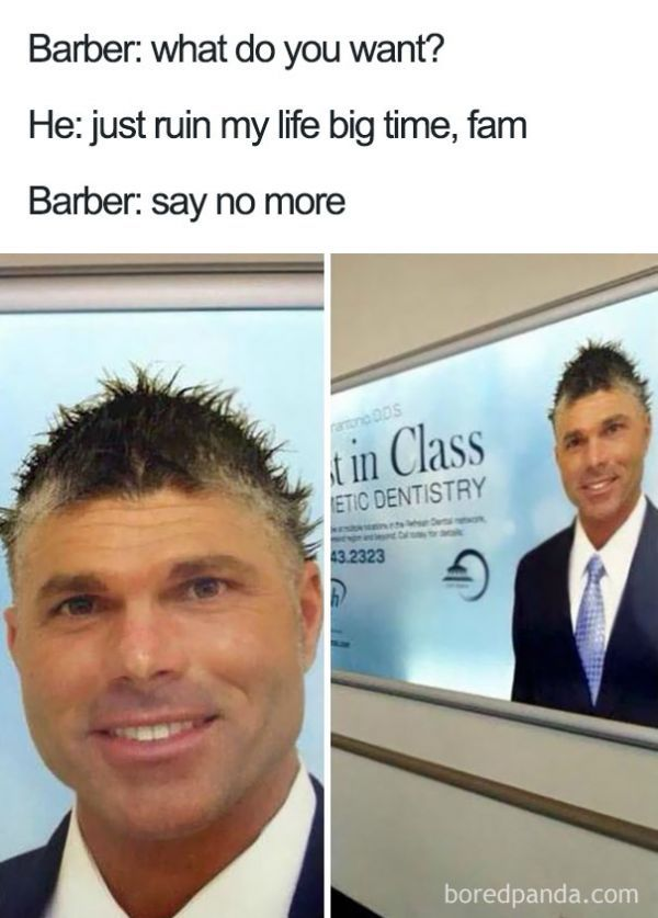 Haircuts So Hilarious And Horrible They Became Say No More Memes