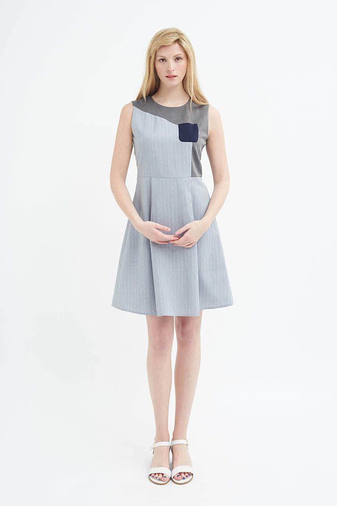 eadade0041 Blueprint Dress (Grey) | Ropa interesante | Gray dress, Fashion, Dresses