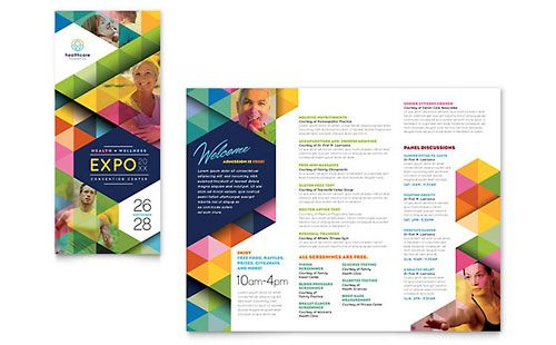 Health Fair - Tri Fold Brochure Template | Flyer | Pinterest ...