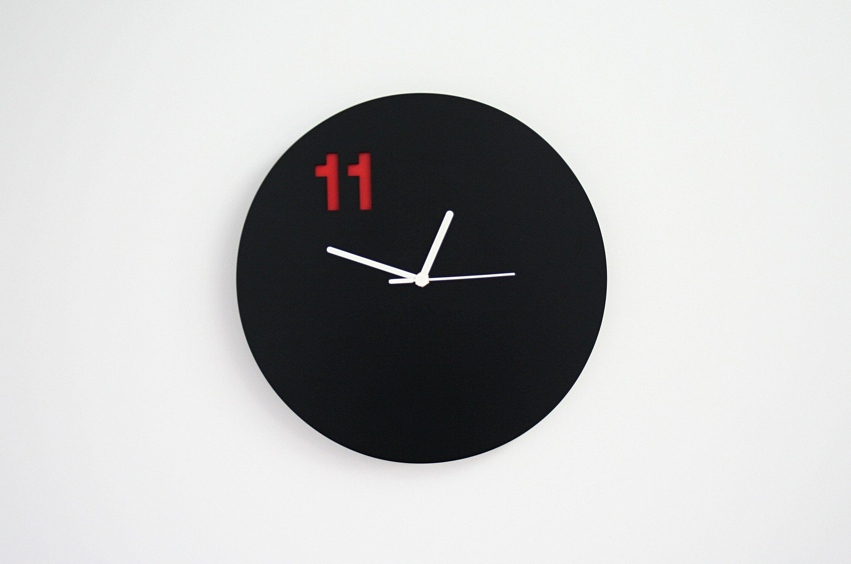 Black Wall Clock Modern Wall Clock Simple Circle Black Wall Clock Wall Clock Modern Wall Clock