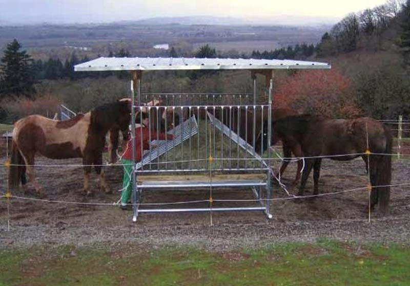 Hay Feeder Model #H-8 Big Bale Hay Feeder from Klene Pipe ...