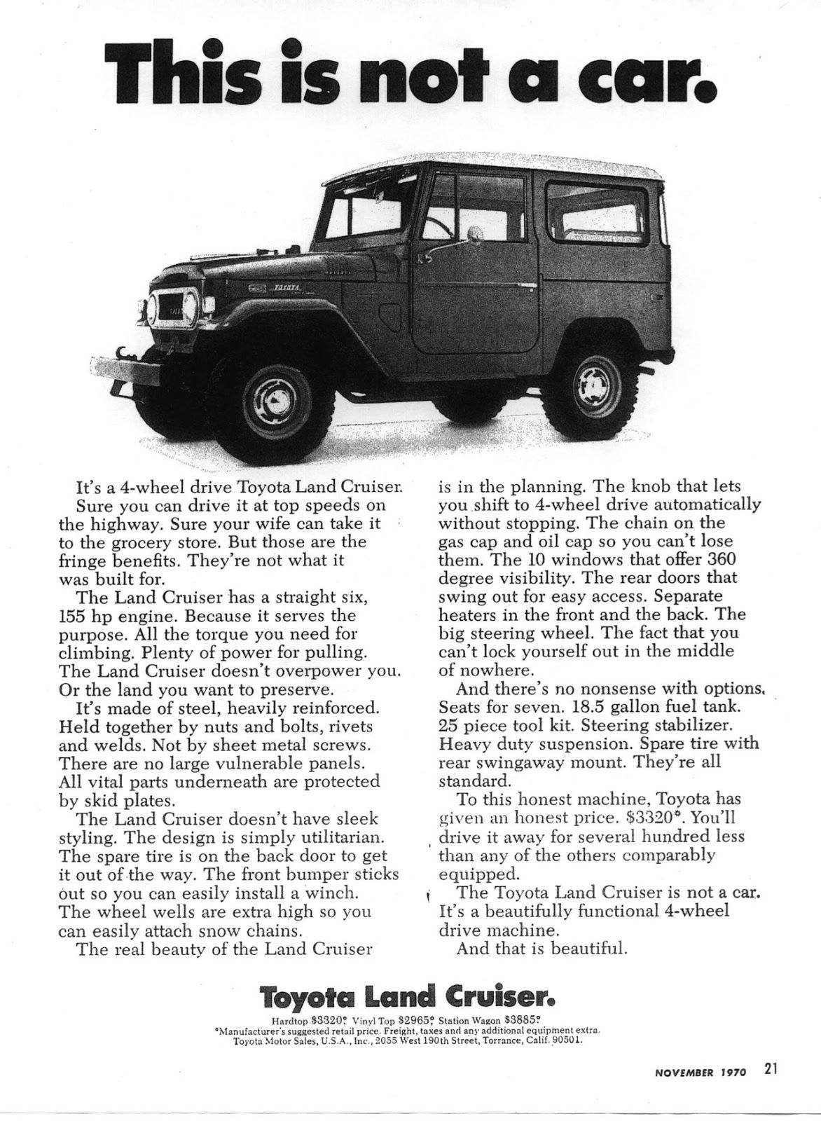 Toyota Land Cruiser Not A Car Vehicles Some New Old 1973 Owners Manual