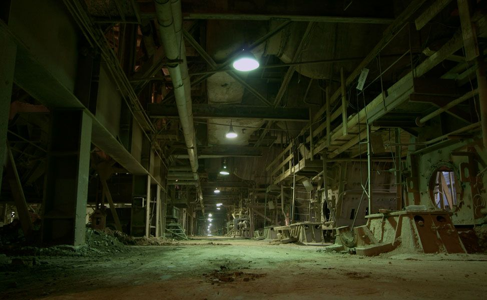 An abandoned factory somewhere.