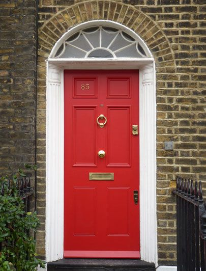 Red Regency door by the London Door Company. Get some curb appeal ...