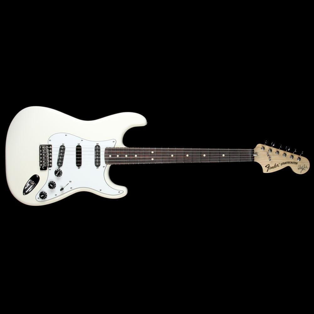 fender artist series ritchie blackmore stratocaster electric guitar olympic white [ 1000 x 1000 Pixel ]