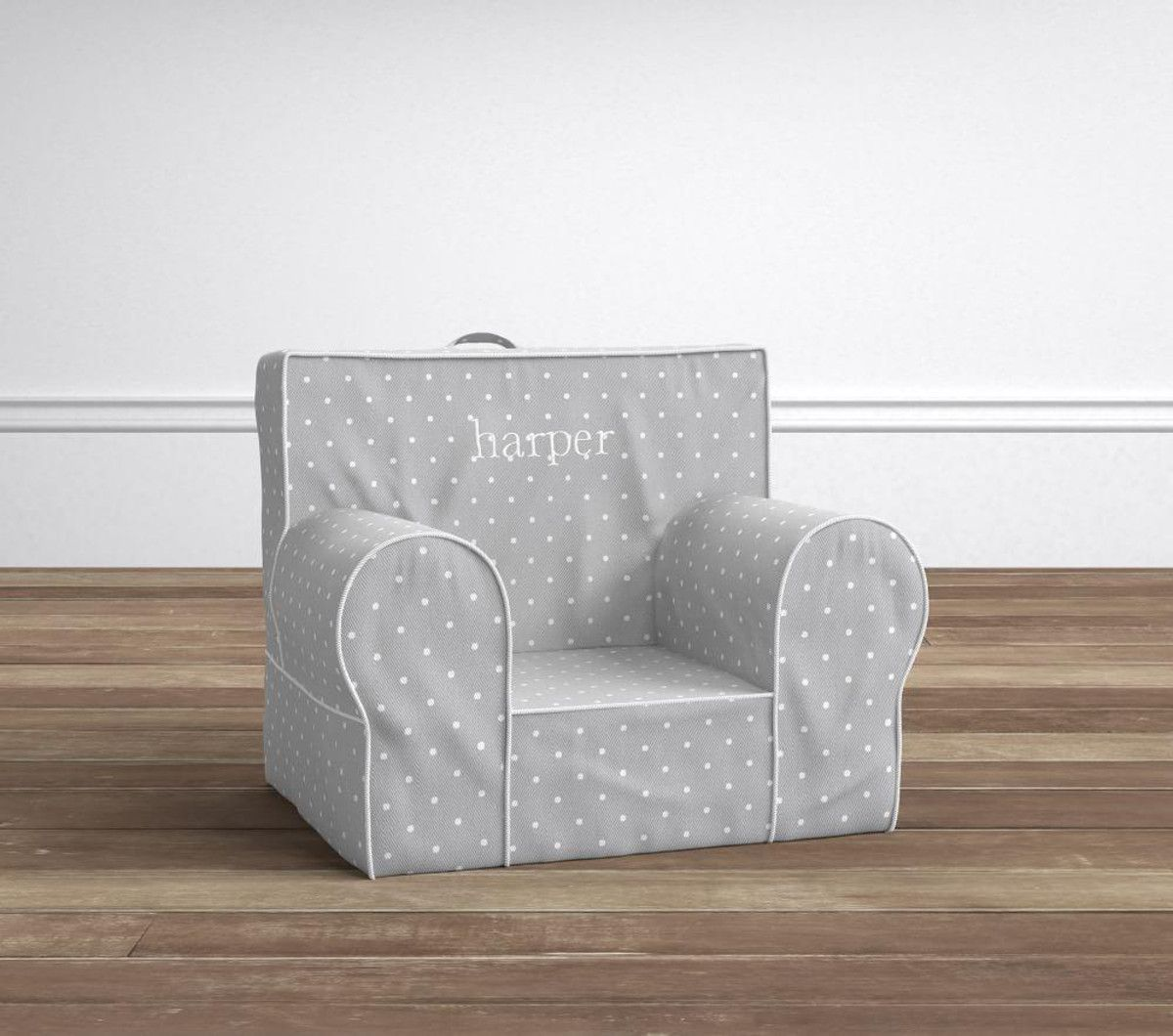 Grey pin dot my first anywhere chair slipcovers for