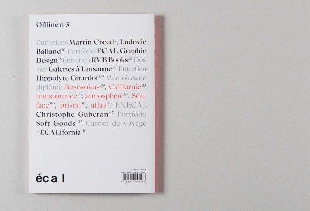 ECAL - NEWS / PRESSE - PUBLICATIONS - OFFLINE – AW N°3