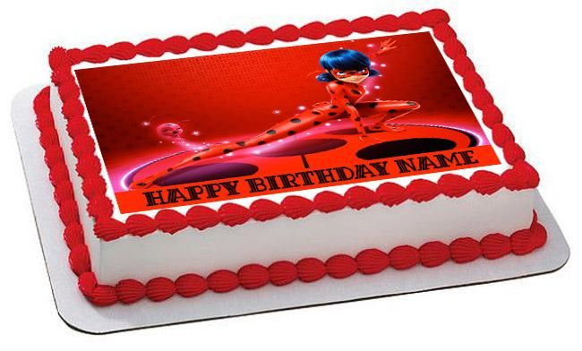 Excellent Miraculous Ladybug Wiki Edible Birthday Cake Topper Or Cupcake Funny Birthday Cards Online Aeocydamsfinfo