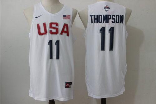 bf1ee023d24 nike usa 2012 olympic dream team ten 29 paul george blue basketball jerseys;  2016 olympics team usa mens 11 klay thompson white revolution 30 swingman  ...