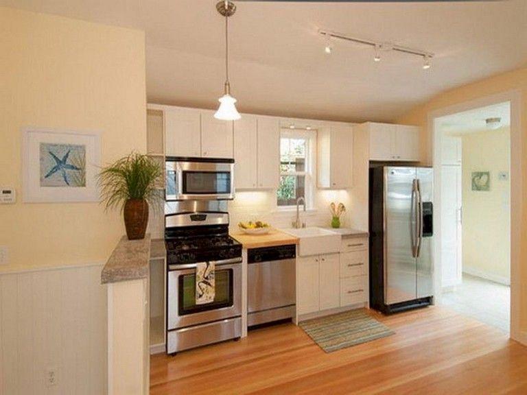 45 Top Small Apartment Kitchen Decor Ideas Small Kitchen Design Photos One Wall Kitchen Kitchen Layout