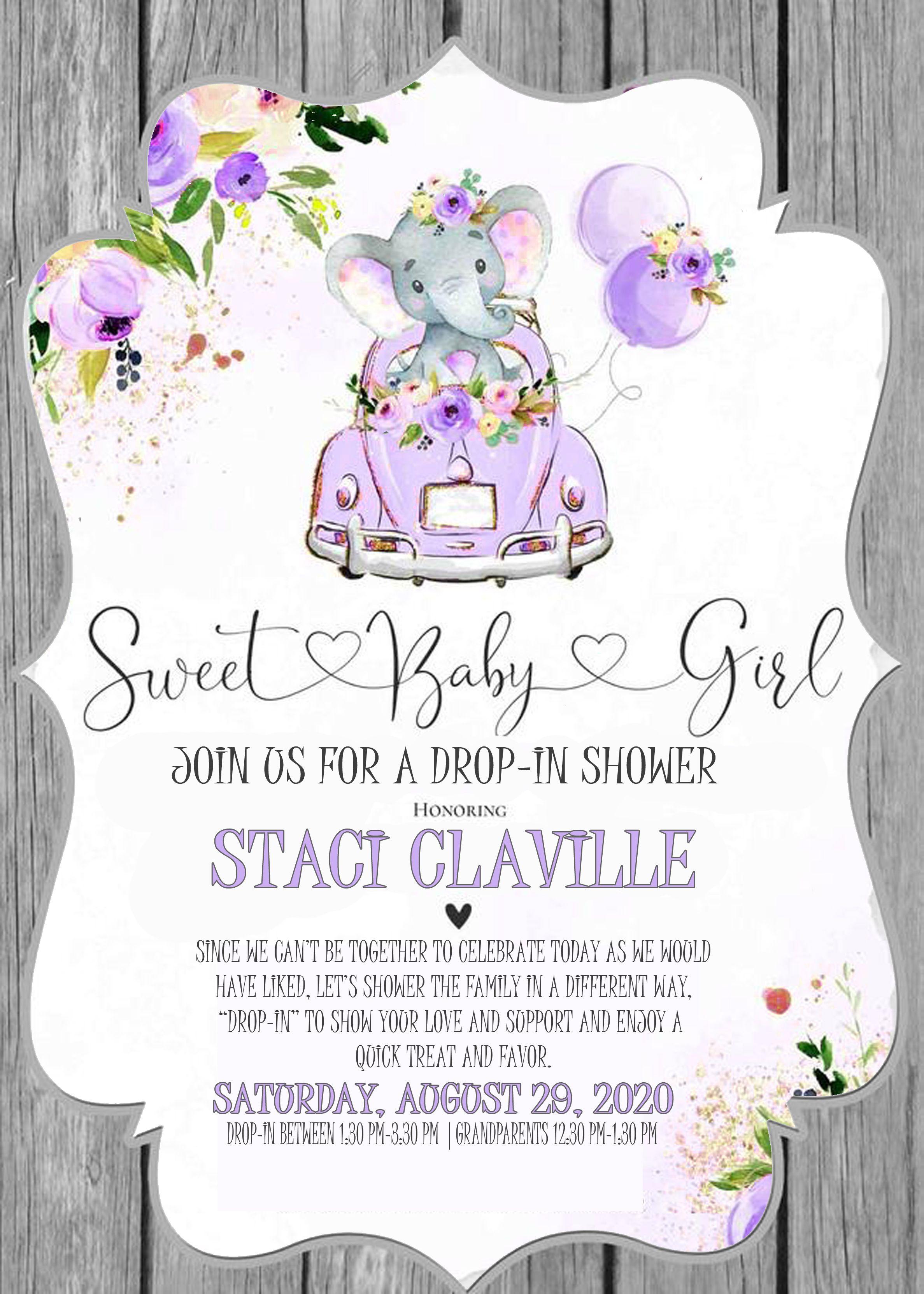 Drop In Baby Shower Invite Baby Shower Invites For Girl Baby Shower Invitations Baby Girl Sprinkle