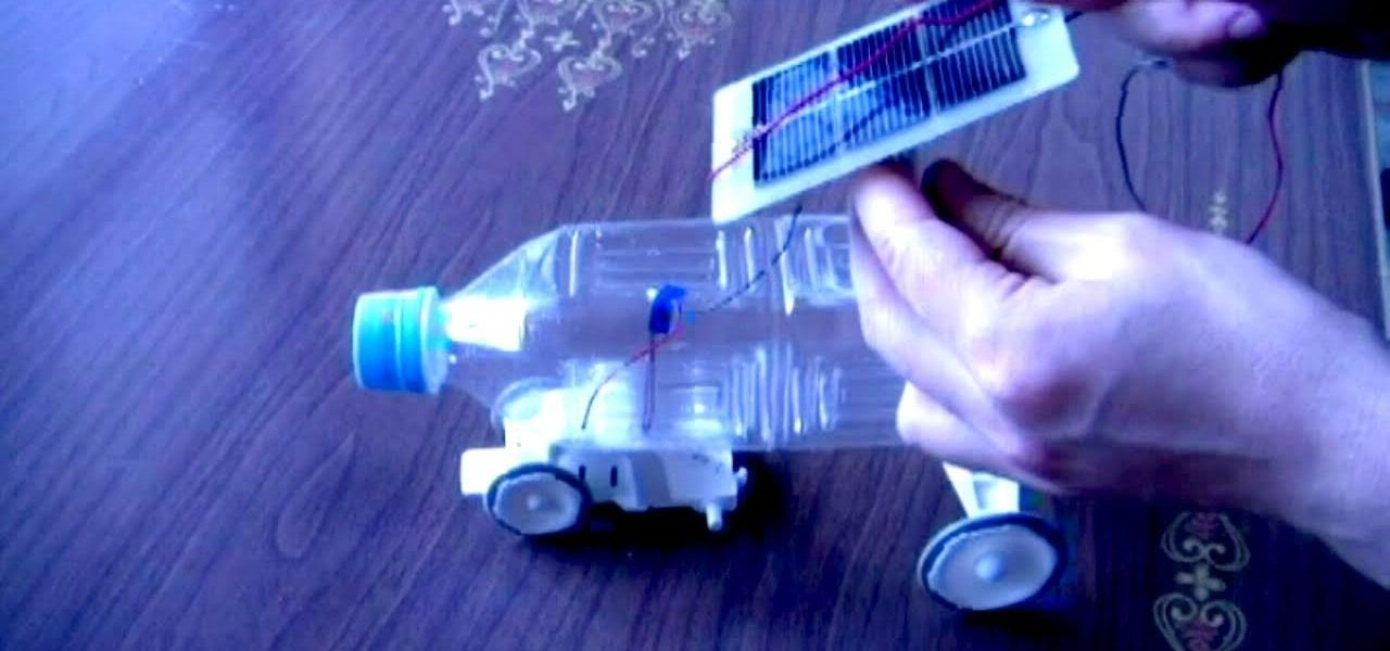 how to make a solar powered plastic bottle toy car