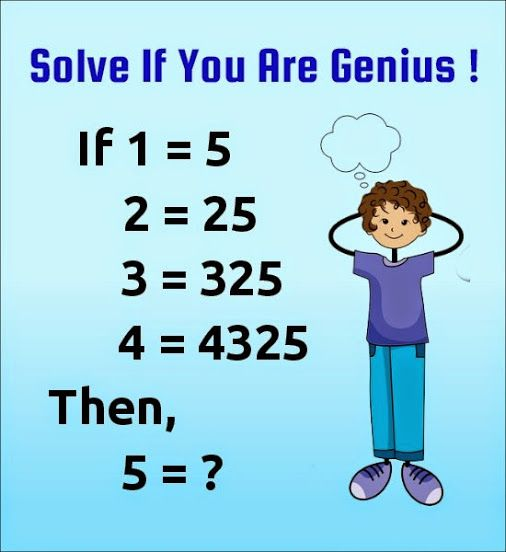 If 1 5 Then 5 Tricky Number Puzzles Patterns With Answer Math Genius Maths Puzzles Math Riddles With Answers