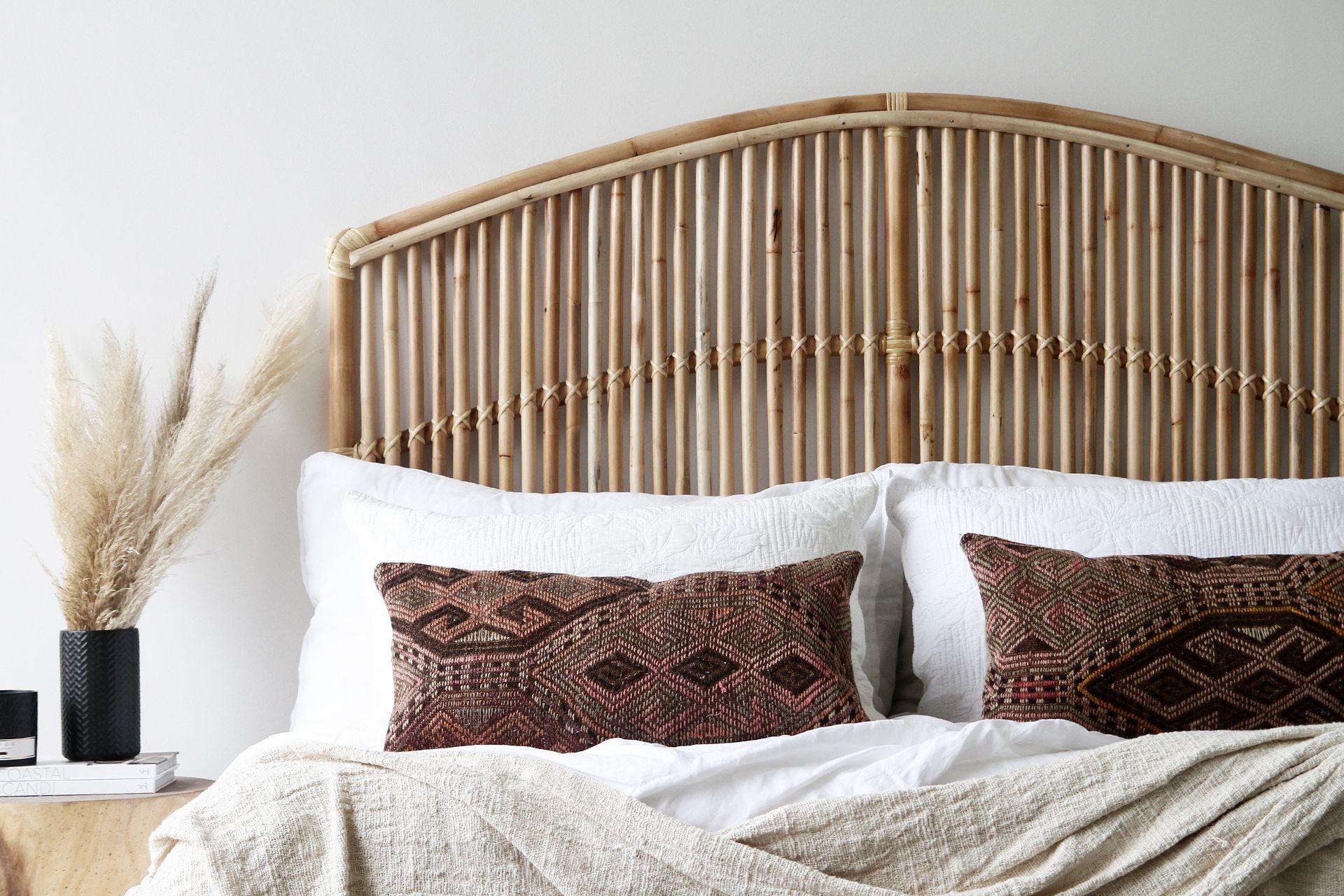 Https Www Naturallycane Com Au Wp Content Uploads 2018 07 Momi King Bedhead Ls Jpg King Bed Mattress Bed Pillows Bed Sizes