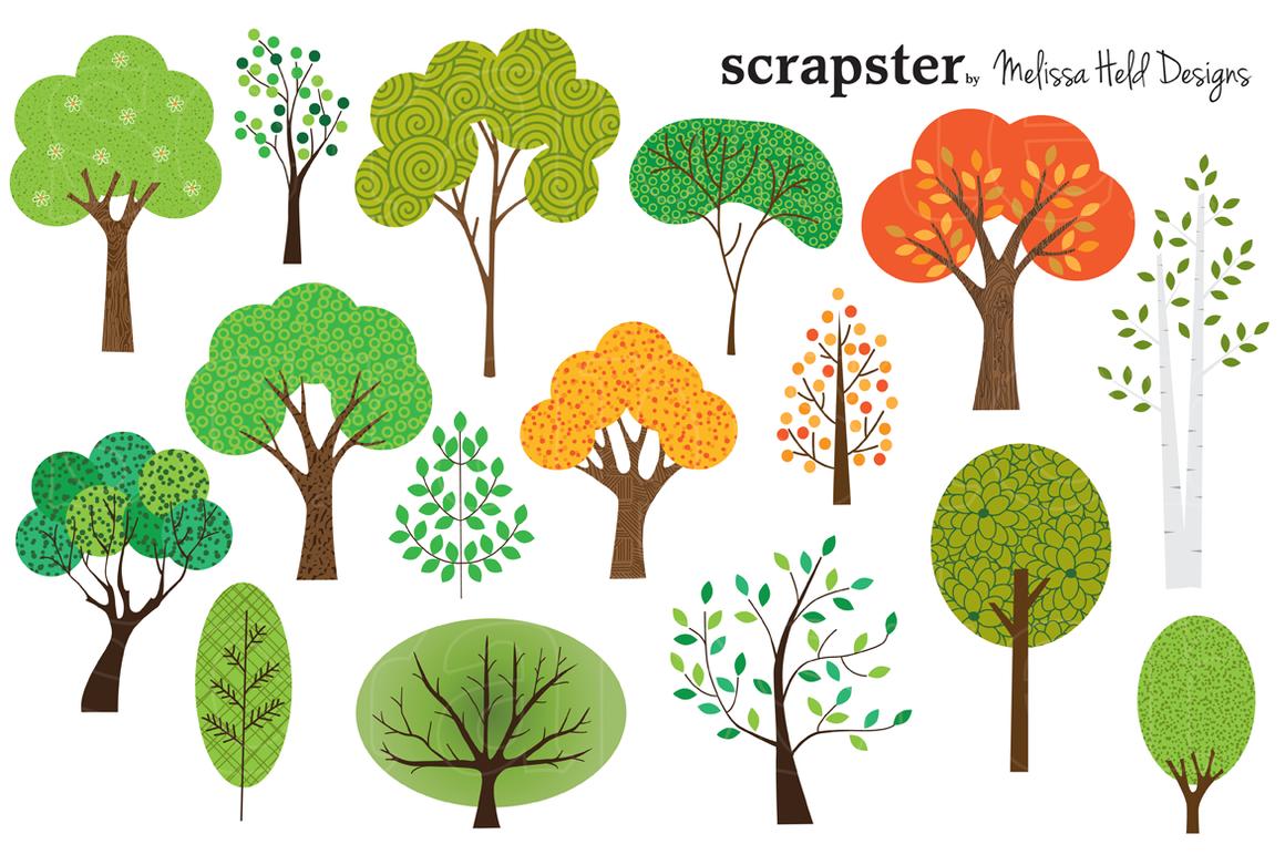 Seasonal Trees Clipart Tree Clipart Tree Drawing Simple Tree Illustration
