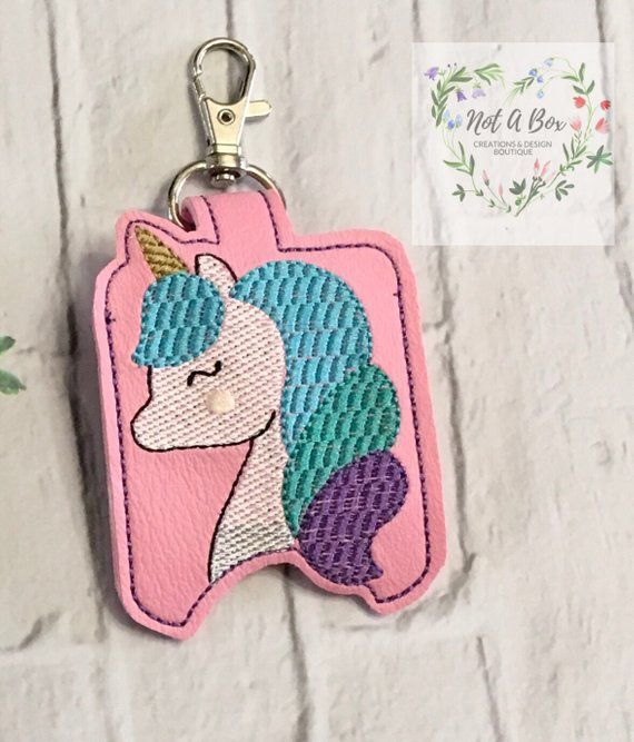My Custom Princess Pony Unicorn Keychain Unicorn Hand Sanitizer
