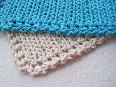 Mr. Micawber's Recipe for Happiness: Squiggledy Dishcloth Free Pattern & Tutorial - an Easy Intro to Slip Stitch Crochet ༺✿ƬⱤღ✿༻