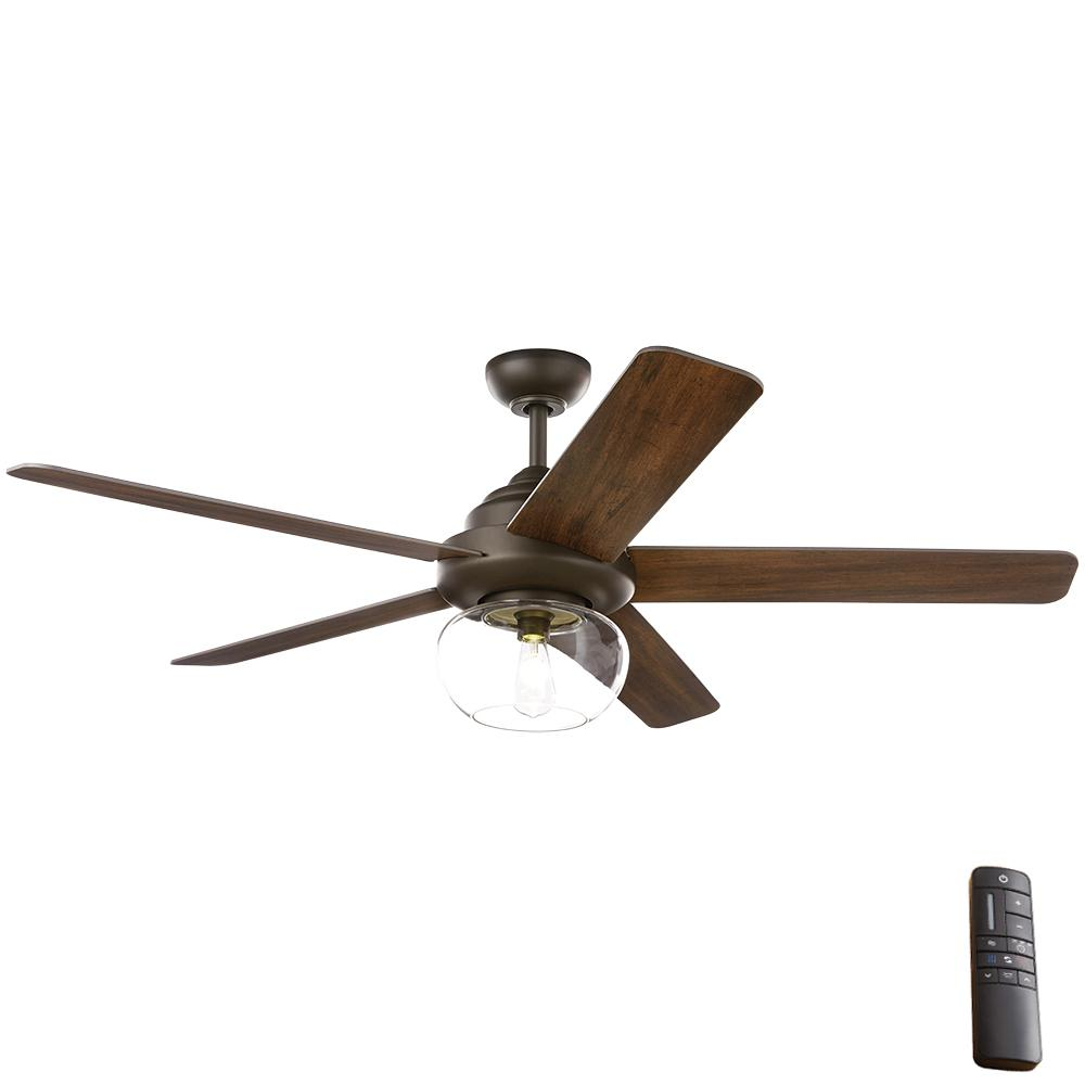 Home Decorators Collection Avonbrook 56 In Led Bronze Ceiling Fan With Light Kit And Remote Control 59256 The Home Depot Bronze Ceiling Fan Ceiling Fan With Light Fan Light