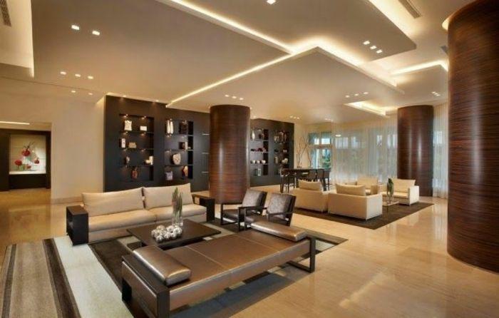 Vous Cherchez Des Idees Pour Comment Faire Un Faux Plafond Dengan Gambar Desain Interior Modern Desain Renovasi
