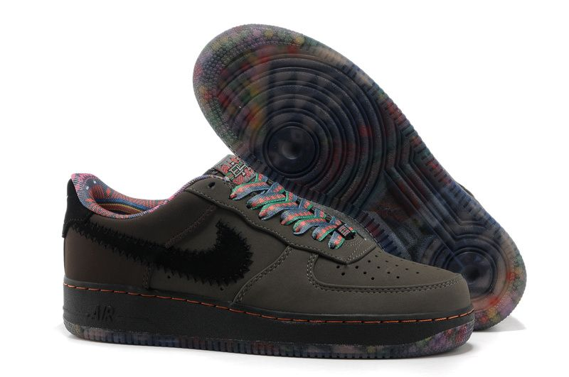 6f5280131f2fe Nike Air Force 1 Schoenen Heren DiepGrijs Zwart Kleurrijke