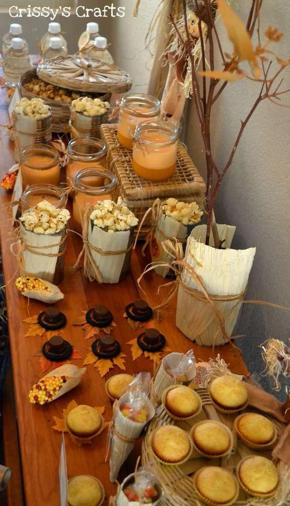 Fall Feast Thanksgiving Fall Party Ideas Mesa de dulces