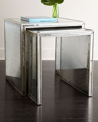 End Tables Accent Tables Side Tables Horchow Mirrored