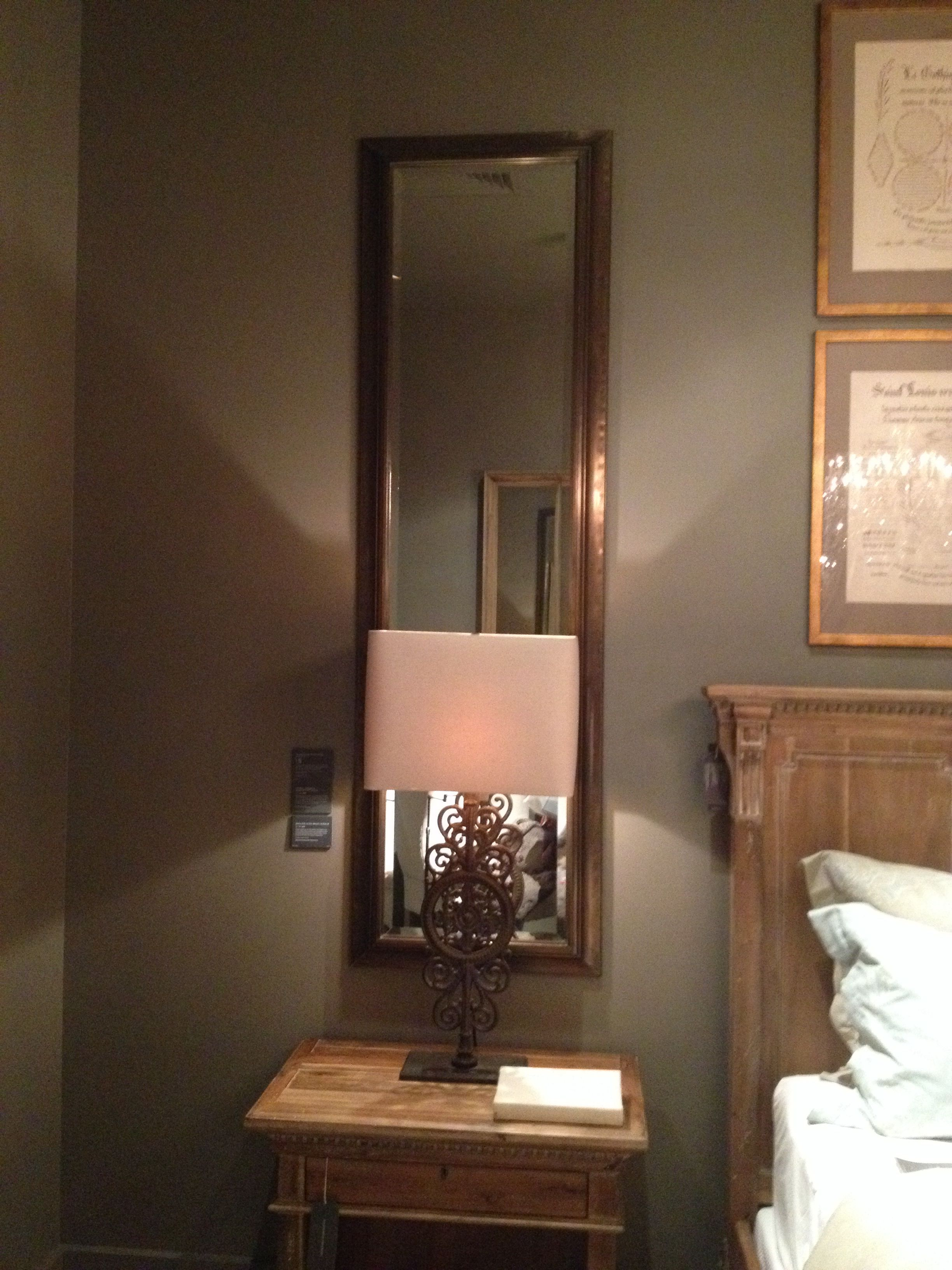 Mirrors Behind Bedside Tables: Mirror Behind Lamp On Bedside Table-brightens Room