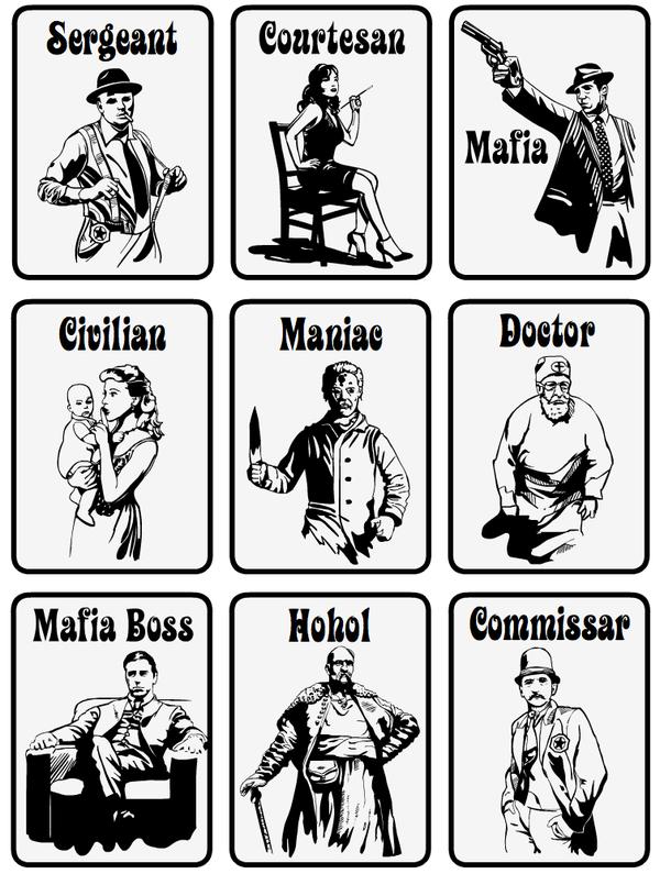 Mafia Cards by Victoria Bila, via Behance Mafia game