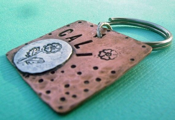 Flower Girl Pet Id Tag  #copper & #sterlingsilver blend with personalization for your fur baby, $13.50