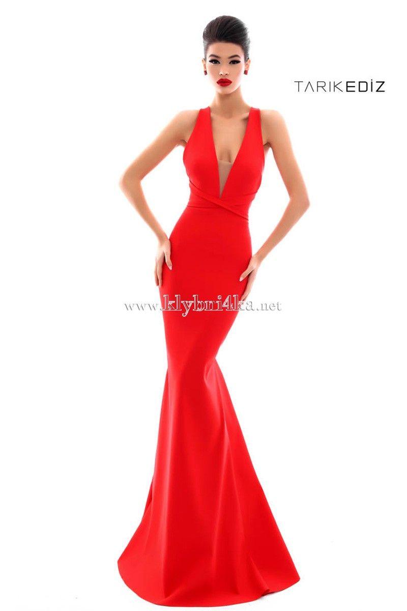 a947805dce2 Красное платье в классическом стиле Tarik Ediz 50334  reddresses   eveningdresses  вечернееплатье