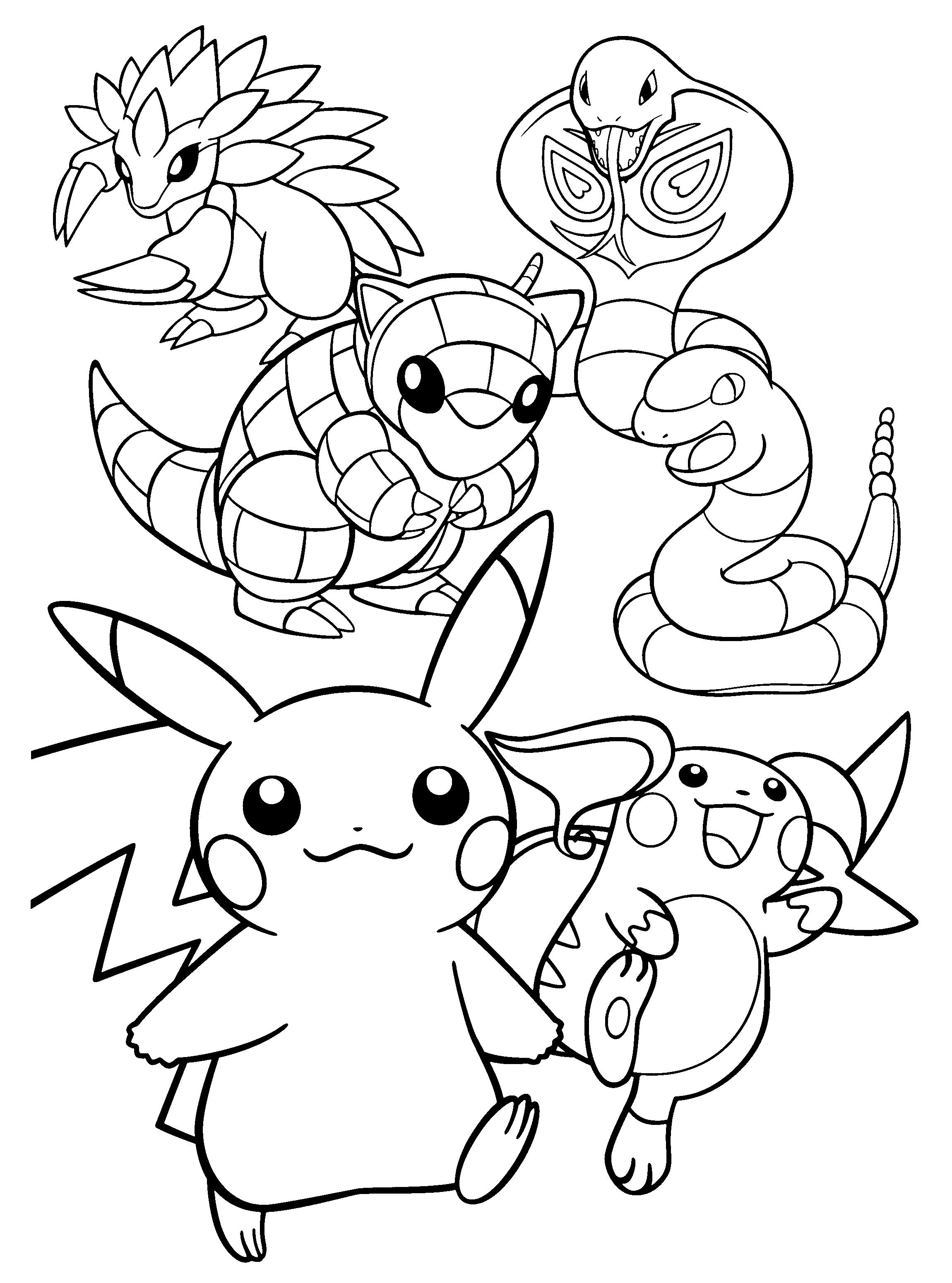 Pokemon Go Pikachu Raichu Sandshrew Sandslash Arbok And Ekans Coloring Pages In 2021 Pokemon Coloring Pages Pokemon Coloring Coloring Pages