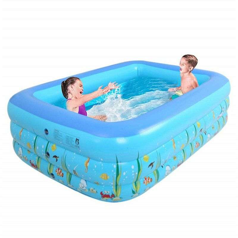 1 2 1 5m Summer Kids Inflatable Swimming Pool Center For Family Outdoor Fun Play Inflatable Swimming Pool Swimming Pools Kiddie Pool