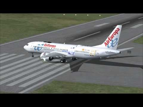 FSX Take off at Belfast airport with Boeing 737 Max