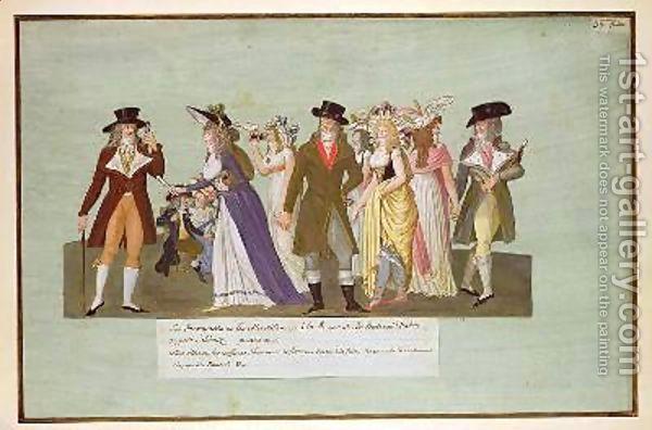 INCROYABLES. Junto con los Marveillese, en el período de Transición o Directorio (1770 - 1780) en Francia, se encargaron de imponer una moda estrafalaria; las mujeres llevaban túnicas grecorromanas y en los hombres se empezo a imponer el empleo del corset.