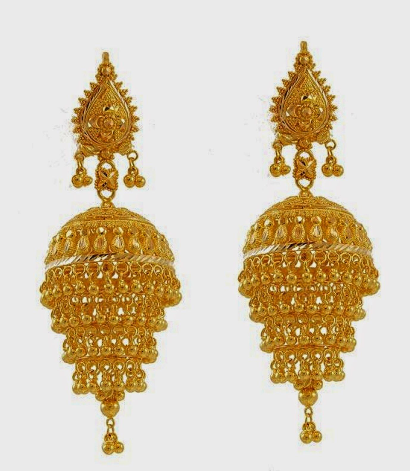 gold-jhumka-earring-designs.jpg (1377×1583) | JUMKA/JIMKI DESIGNS ...