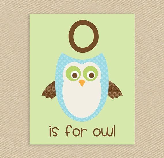 O is for Owl Wall Art #nursery #kids #printable #wallart | Preschool ...