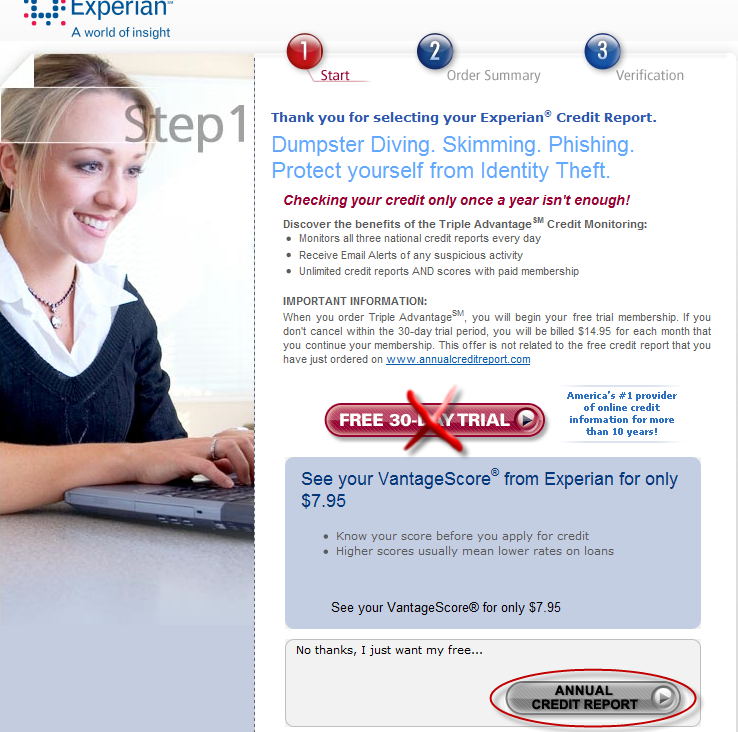 how to get your credit report free online