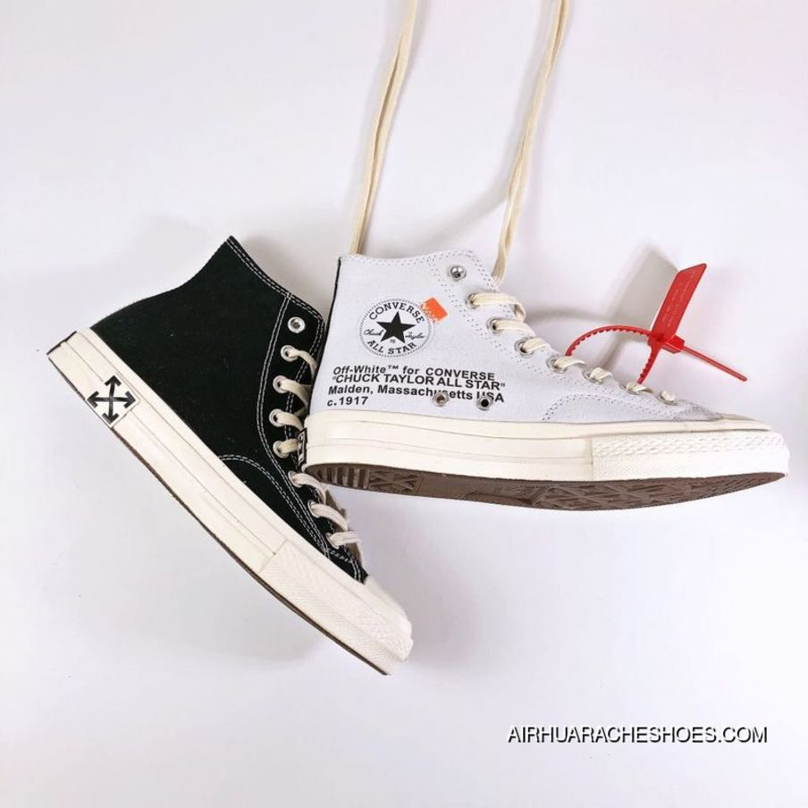 c83d13aeb6b3 OFF-WHITE X CONVERSE Chuck Taylor 70 S CONVERSE OFF Collaboration Size High  Quality Double Cloth Round Bar For Sale