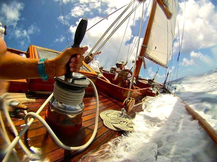Steering the family antique yacht awesome trading