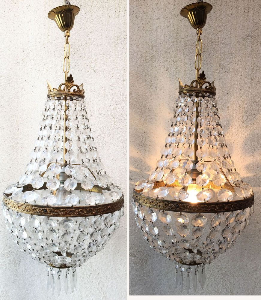 lustre montgolfiere a pampilles verre et bronze bj italie pr t a poser lustres pinterest. Black Bedroom Furniture Sets. Home Design Ideas