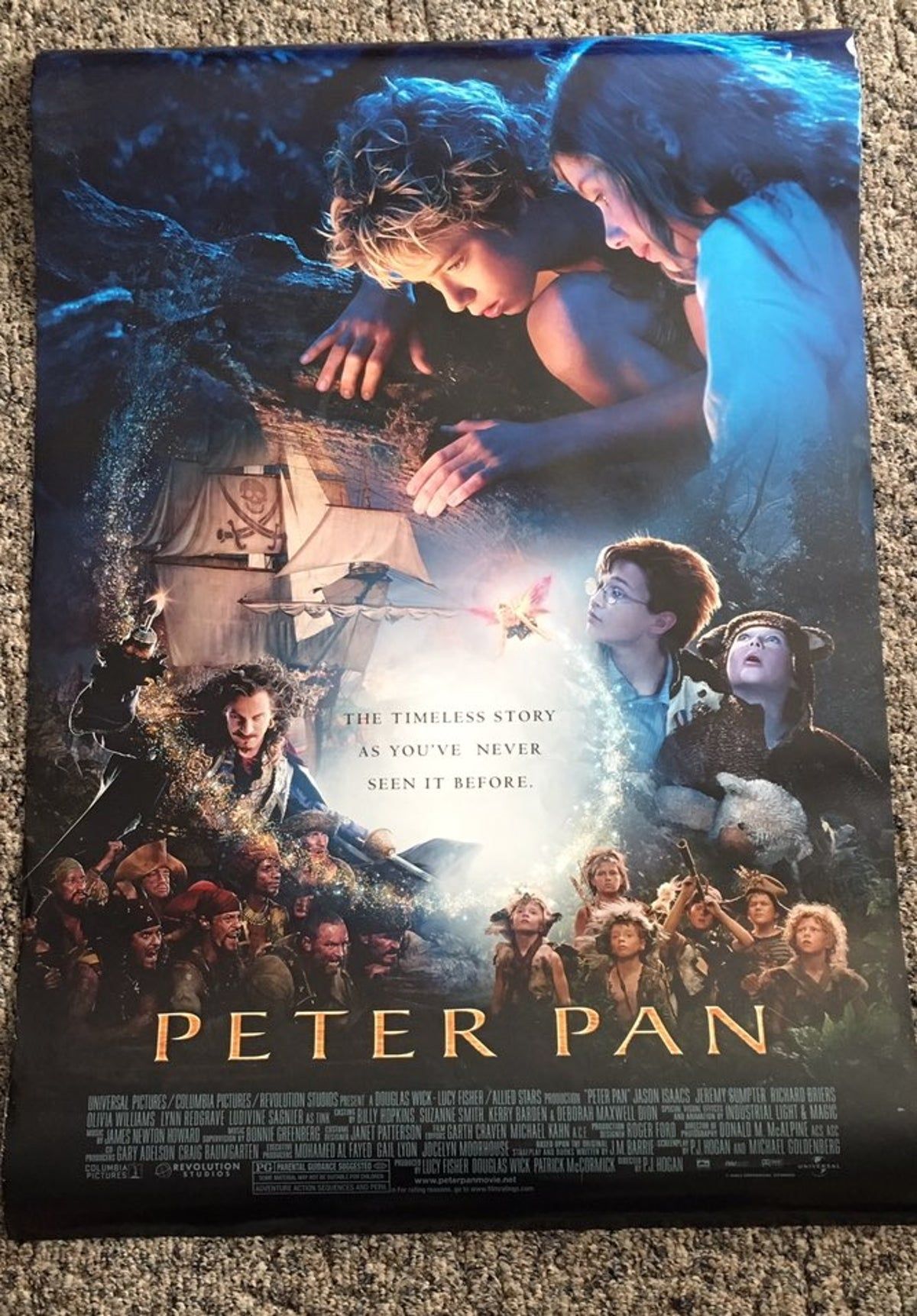 Offical Movie Theater Poster For Peter P Peter Pan 2003 Peter Pan Movie Peter Pan Live