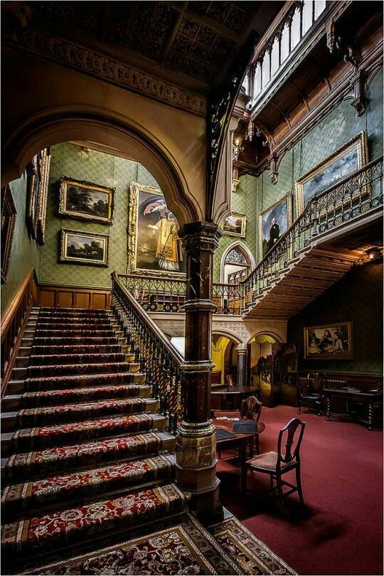 Grand Gothic Style Staircase Victorian Gothic Decor Gothic