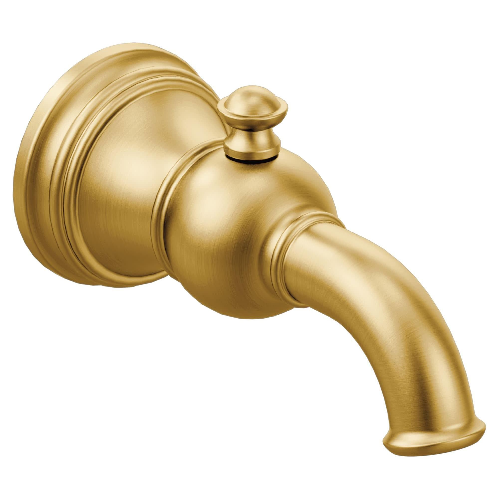 Moen S12104 Weymouth 6 3 4 Wall Mounted Tub Spout Brushed Gold
