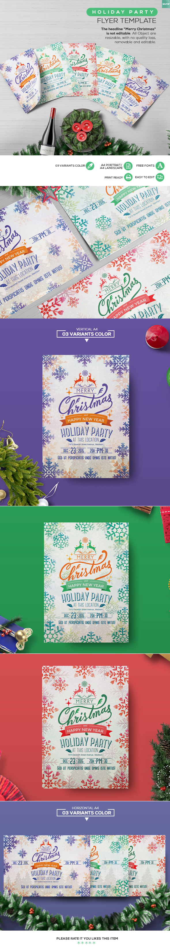 Holiday Party Flyer Template Templates Pinterest Party Flyer