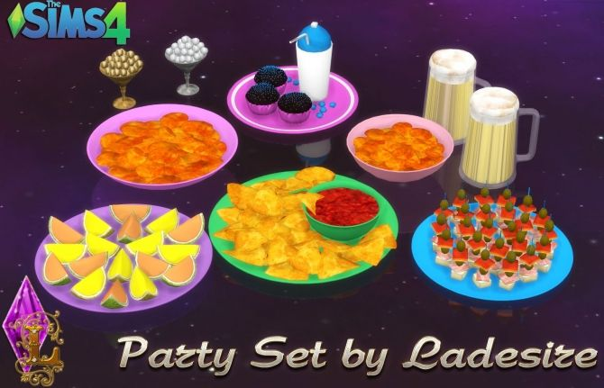 Party Set At Ladesire Sims 4 Updates Decoraci 243 N Ts4cc