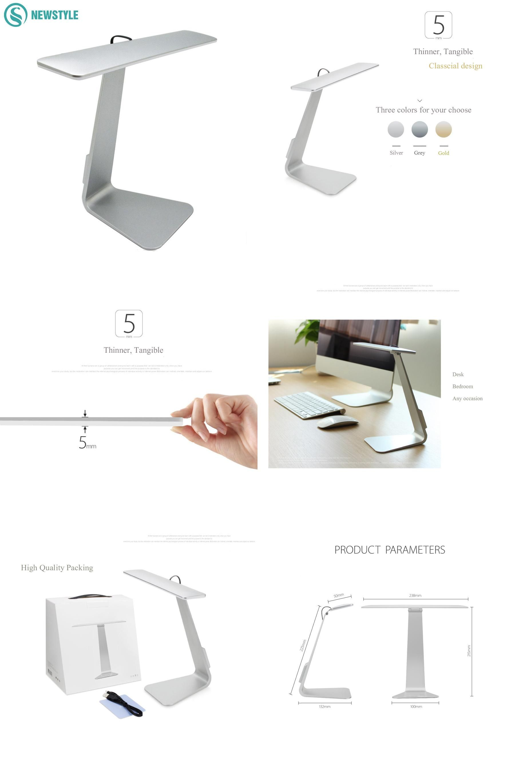 visit to 2 5w 250lm ultra thin led table lamp smart touch led