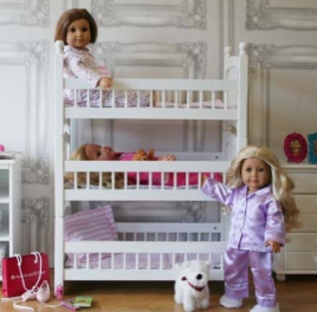 Triple Bunk Bed American Girl And Our Generation Dolls